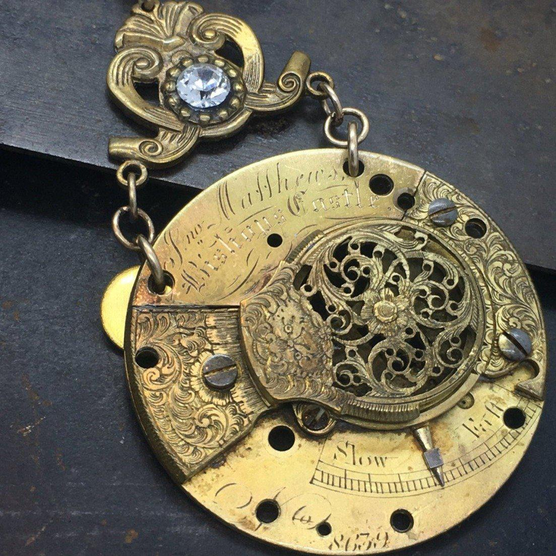 The Watchmaker Series Fusee Steampunk necklace #8 - The Victorian Magpie