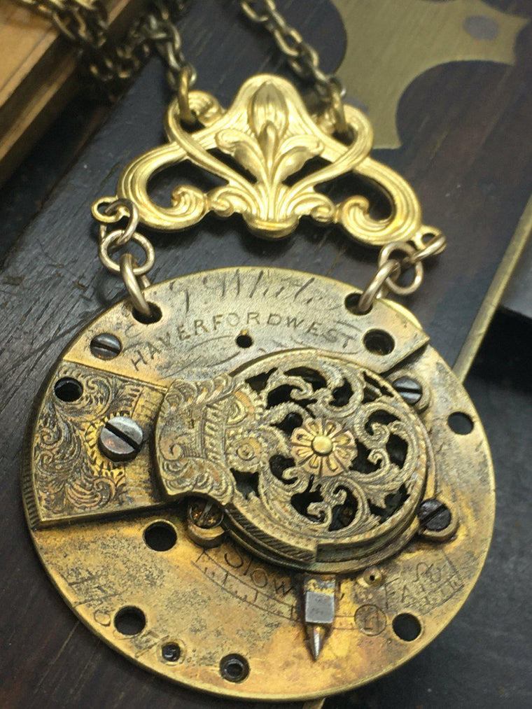 The Watchmaker Series Fusee Necklace  #14 - The Victorian Magpie