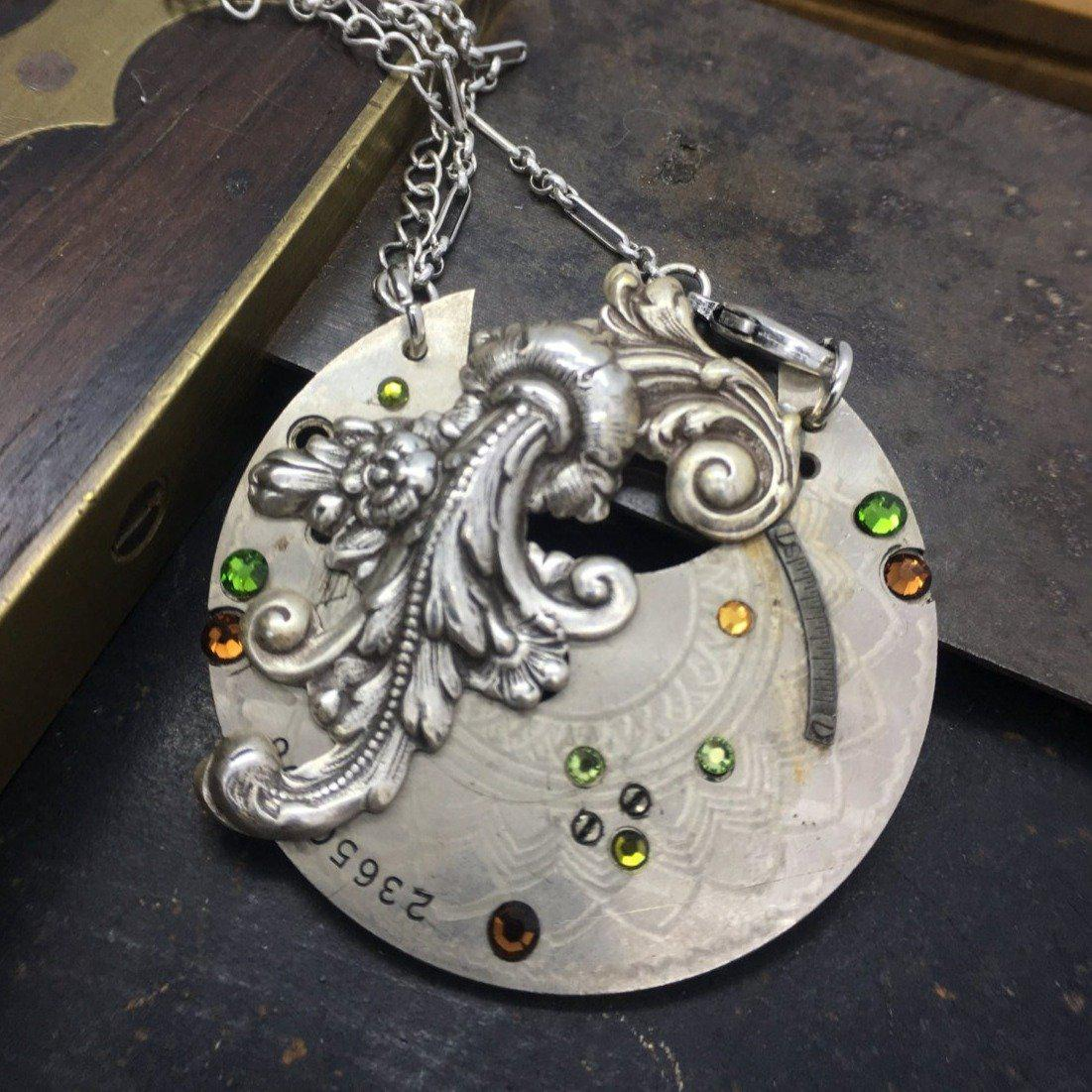 Ramona, Engraved Pocket Watch Necklace