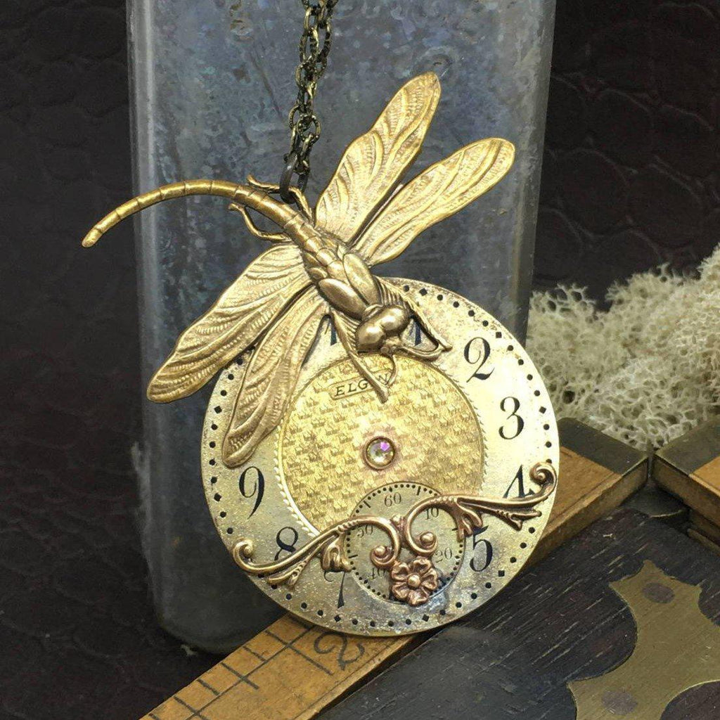 Phoebe, Dragonfly Necklace - The Victorian Magpie