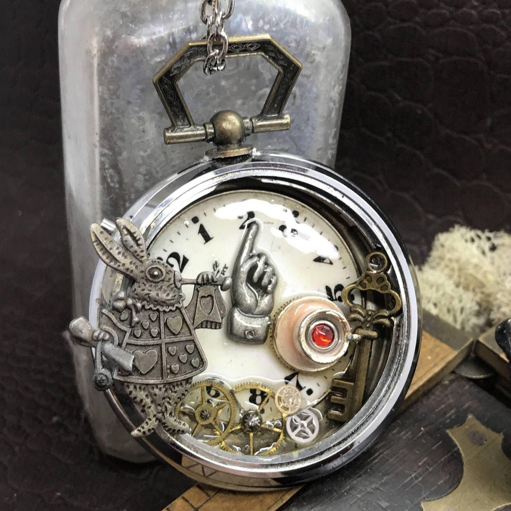Steampunk Alice in Wonderland Necklace