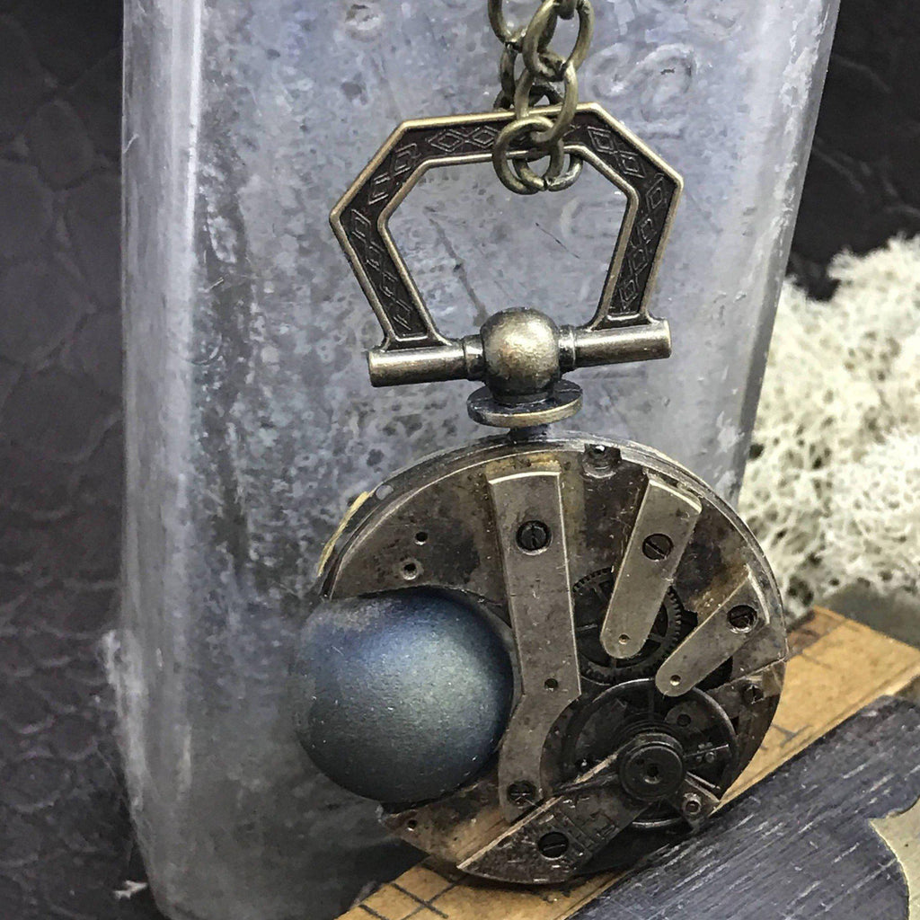 Steampunk Eclipse Necklace - The Victorian Magpie