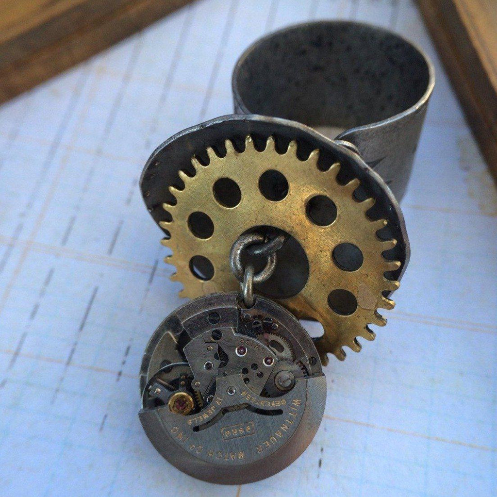 Watch Movement Steampunk Ring
