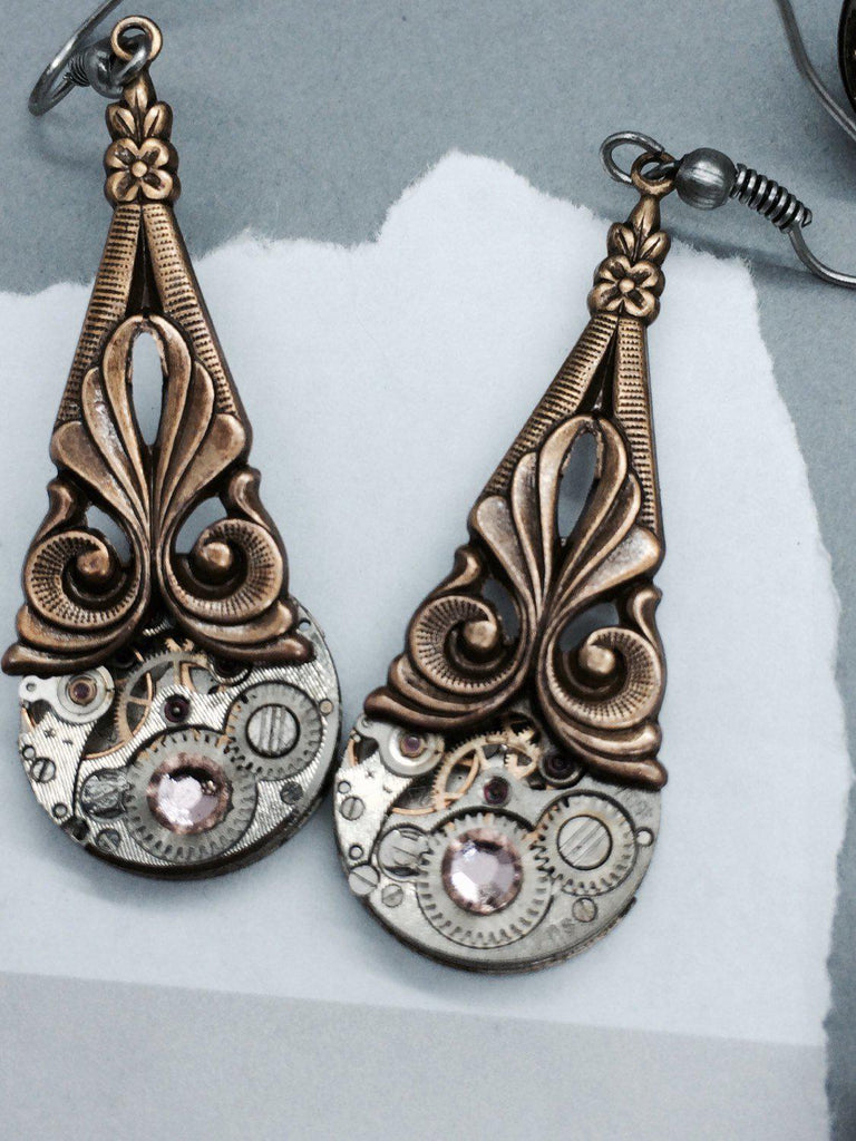 Prudence, Art Deco Drop Earrings - The Victorian Magpie