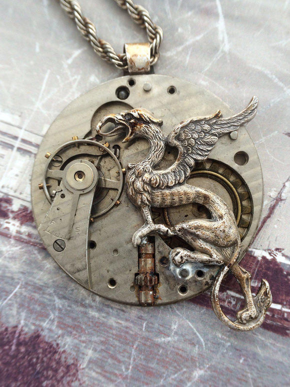 Griffin Steampunk Necklace