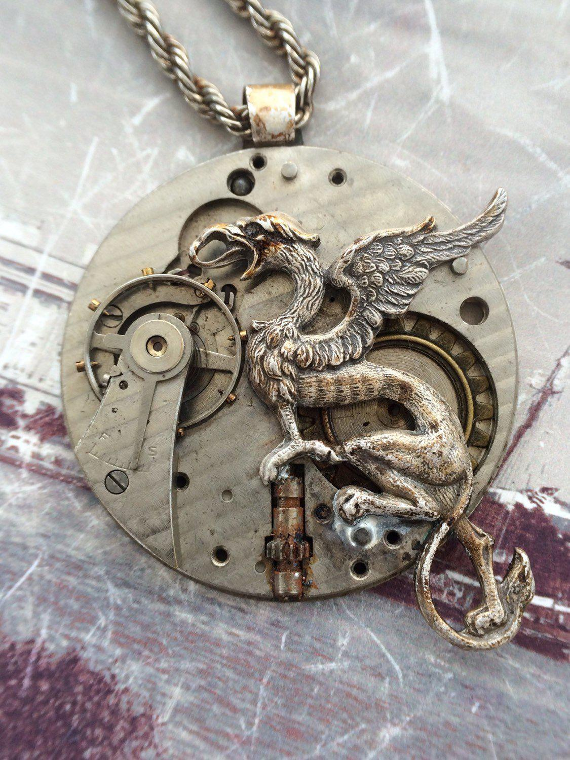 Griffin Steampunk Necklace - The Victorian Magpie