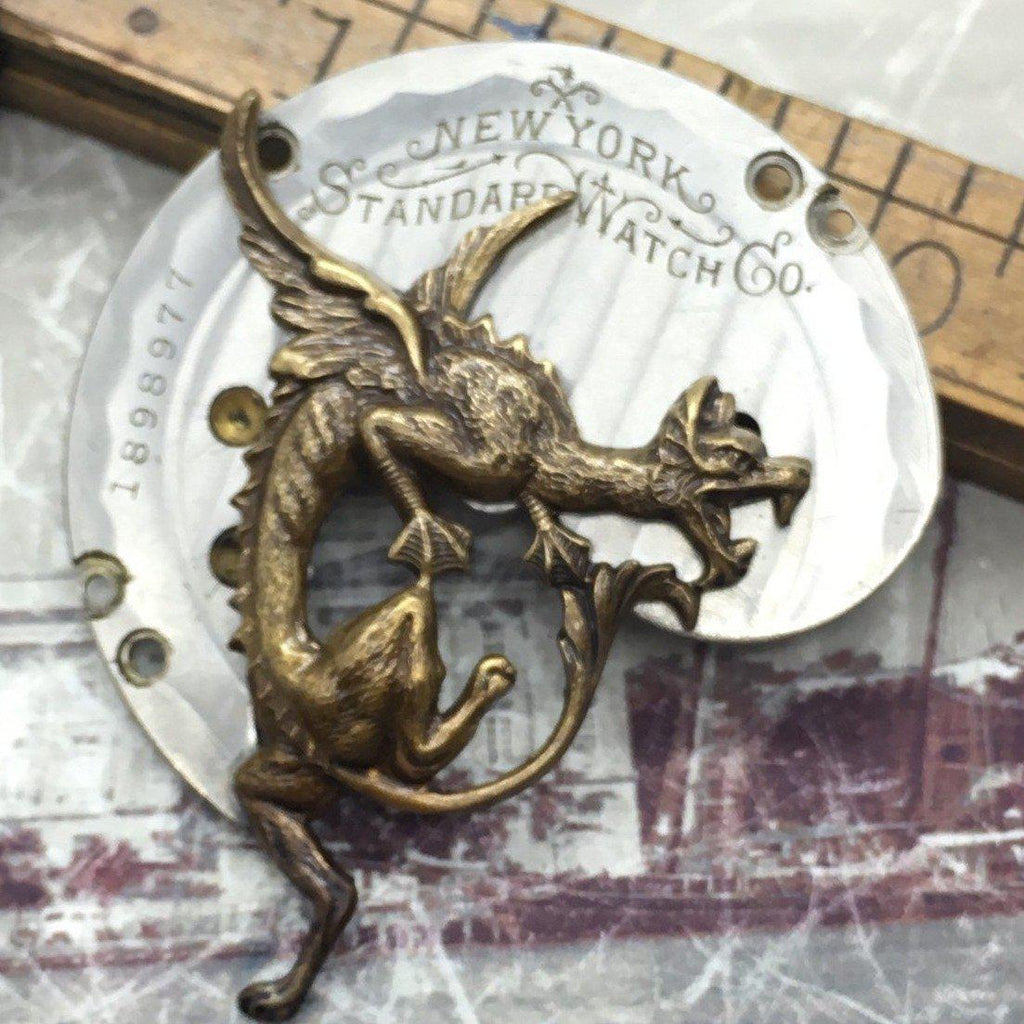 Victorian Dragon Steampunk Necklace - The Victorian Magpie