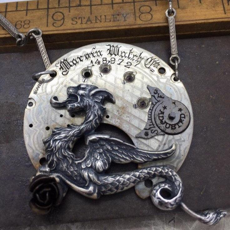 Vaughn,  Dragon Necklace - The Victorian Magpie