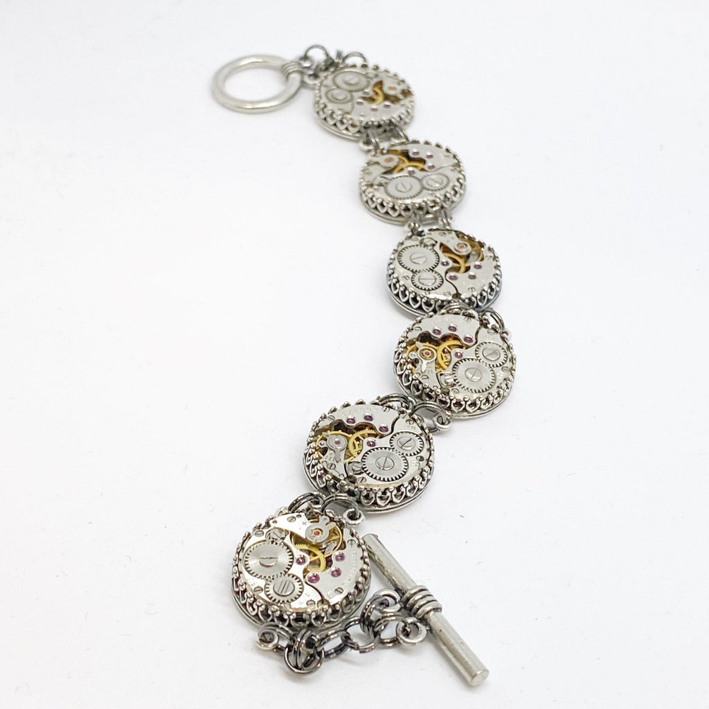 Mary, Double Link Station Bracelet - The Victorian Magpie
