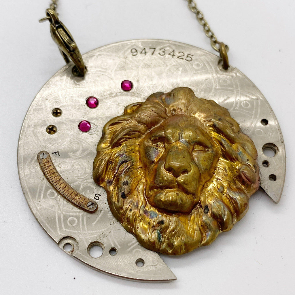 Bartholomeu,  Lion Necklace - The Victorian Magpie
