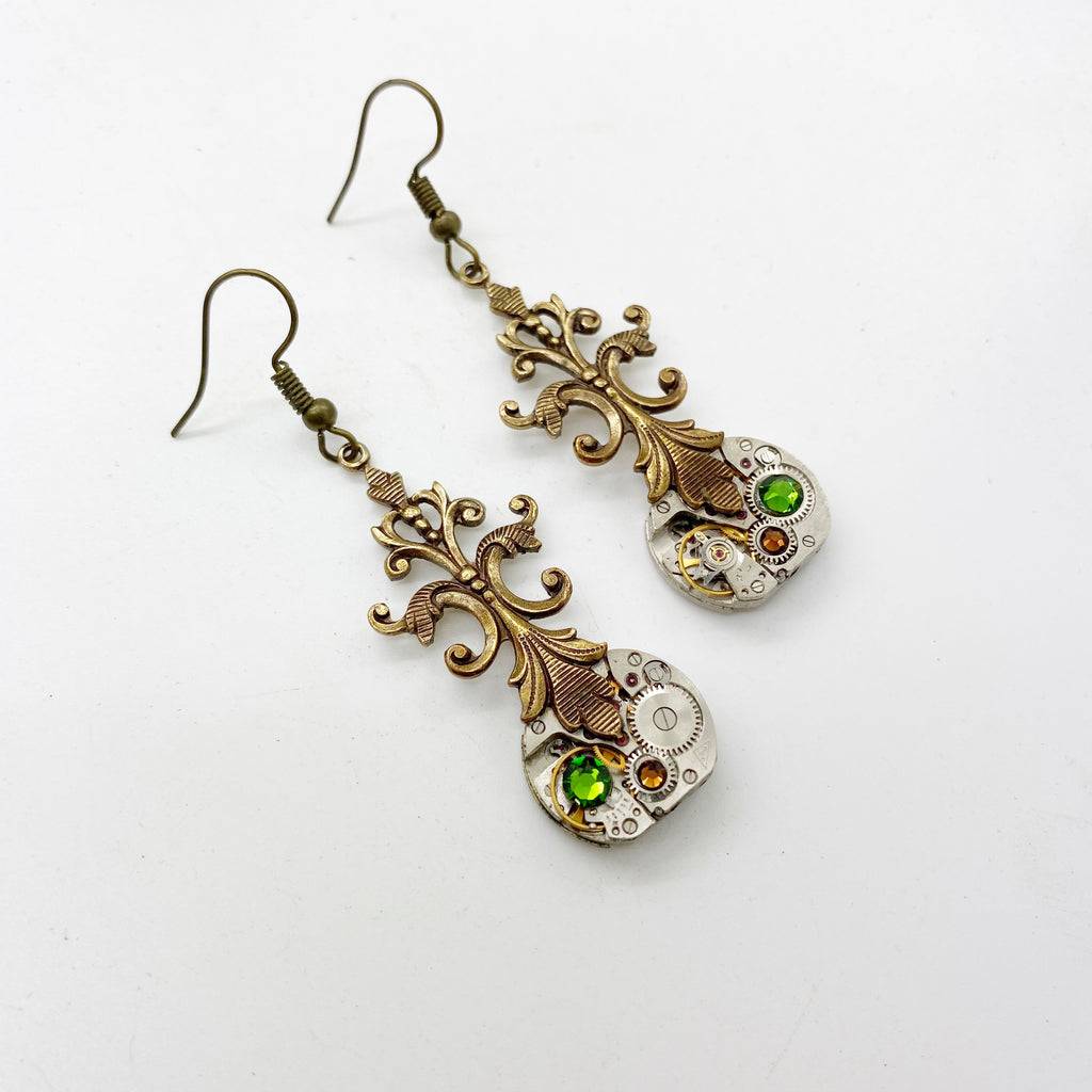 Viola, Victorian Filigree Earrings - The Victorian Magpie