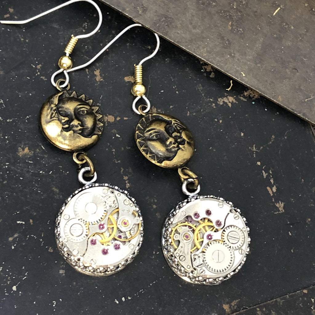 Isabel, Sun and Moon Earrings