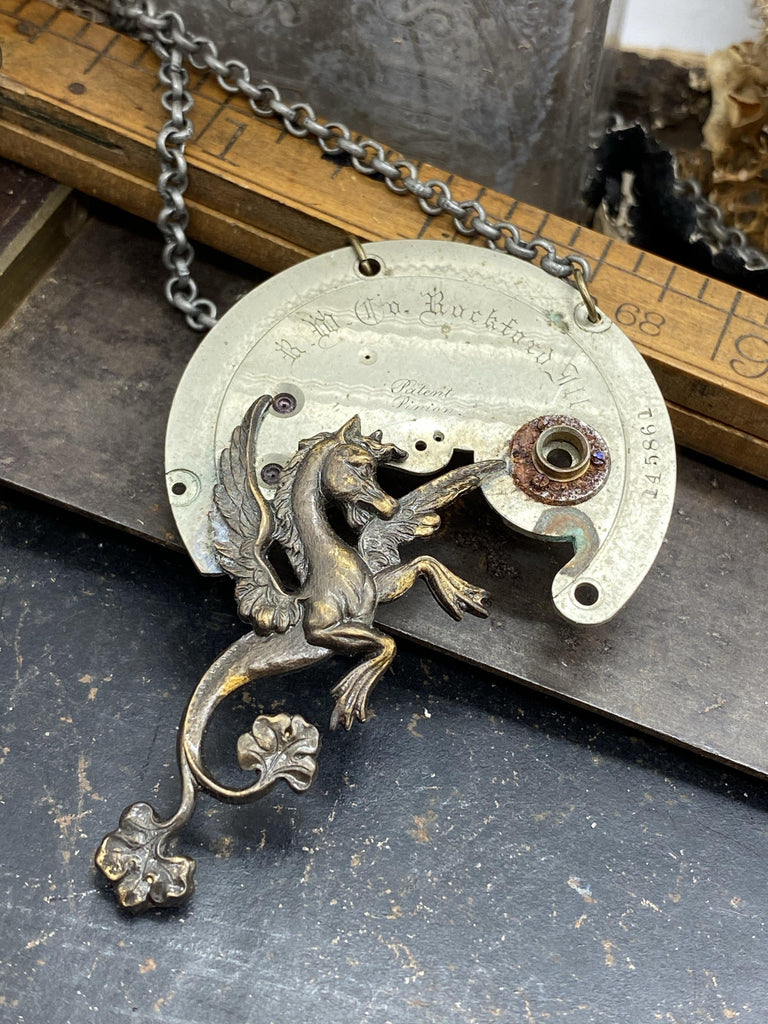 Mythical Hippocampus Necklace - The Victorian Magpie