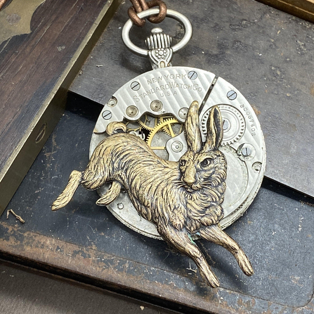 White Rabbit Watch Necklace - The Victorian Magpie
