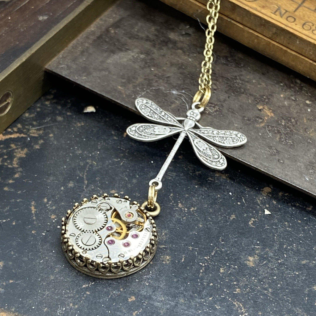 Nadine, Dragonfly Drop  Pendant
