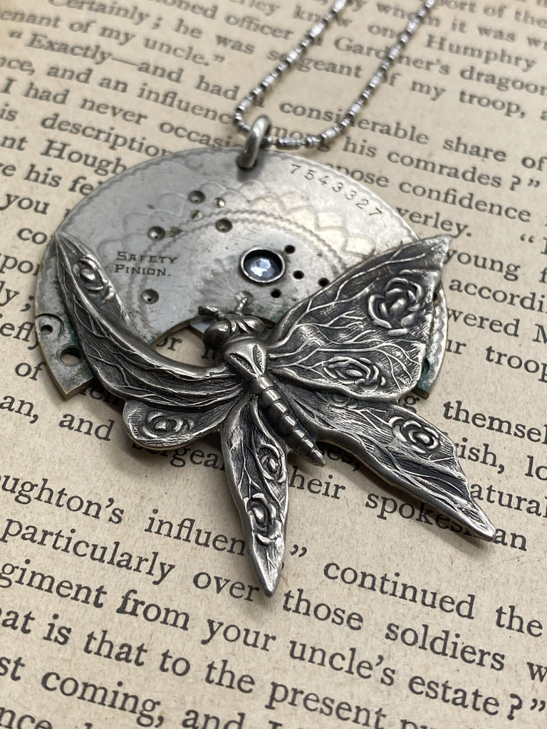 Veronica, Victorian Butterfly Necklace - The Victorian Magpie