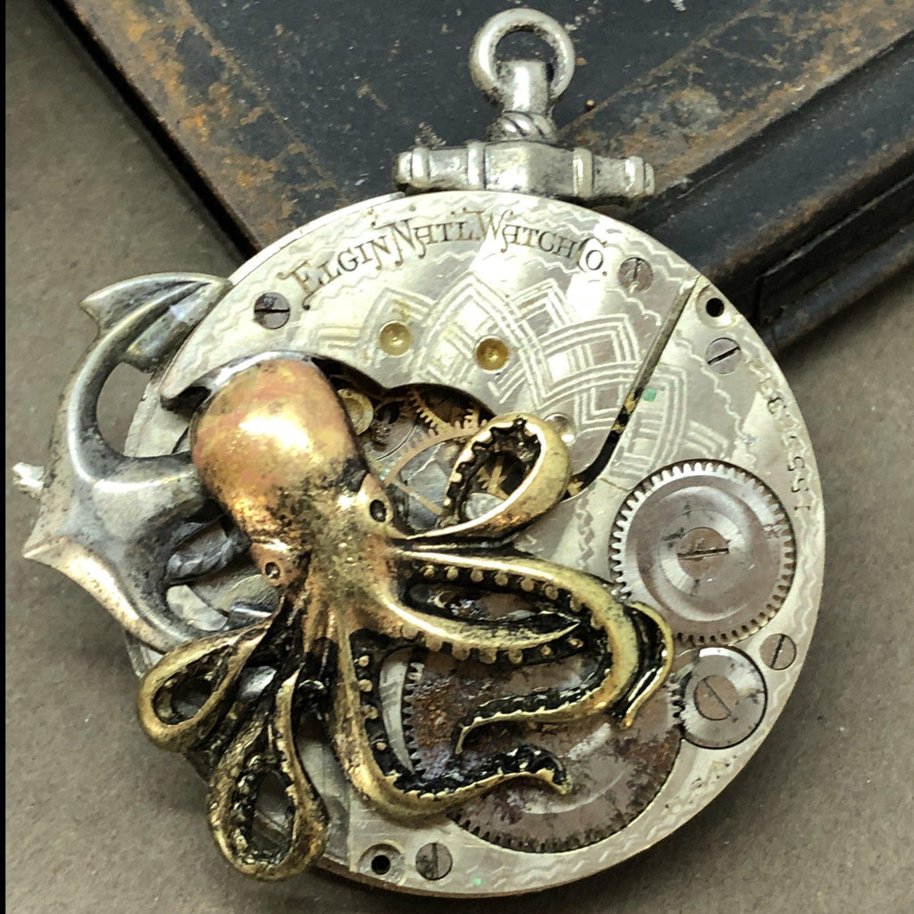 Brice octopus watch necklace - The Victorian Magpie