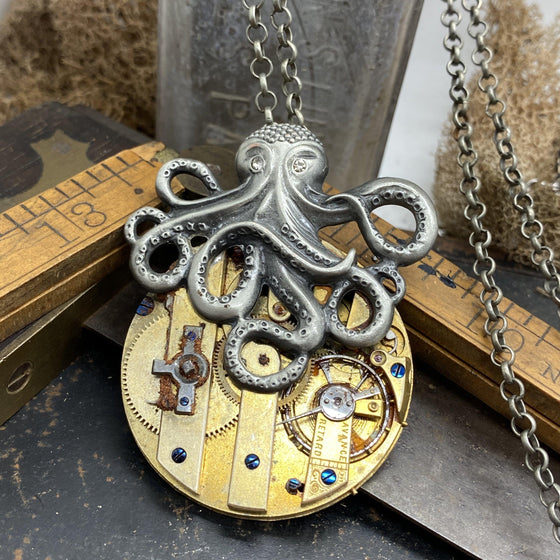 Tellaro, Octopus Necklace - The Victorian Magpie