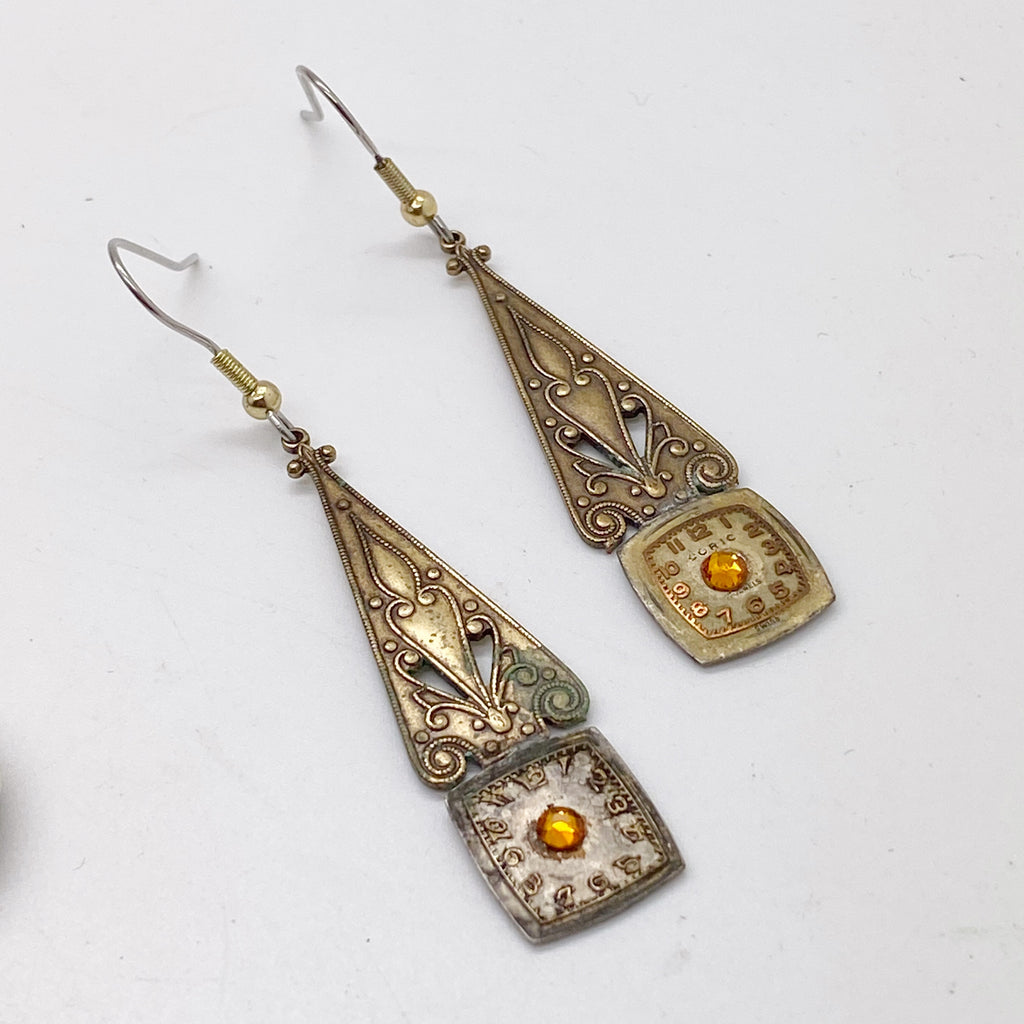 Morwen, Elvish Art Nouveau Earrings - The Victorian Magpie