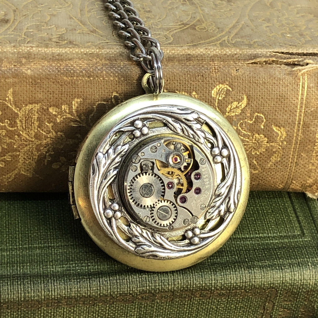 Adele, Round Filigree Locket - The Victorian Magpie