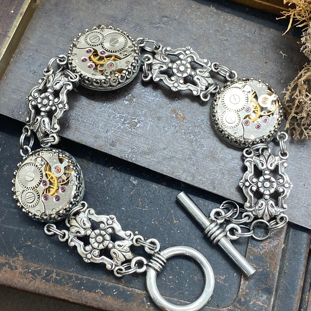 Victorian Filigree link Bracelet - The Victorian Magpie