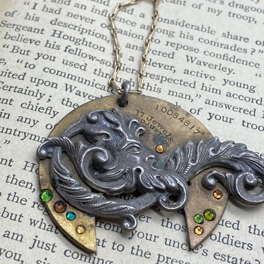 GreenMan Woodland Necklace - The Victorian Magpie