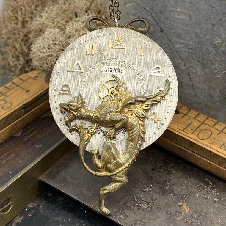 Griffin Art Deco Pendant - The Victorian Magpie