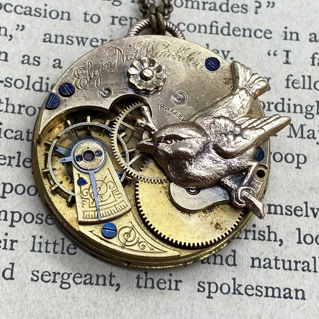 Lydia, Sparrow Necklace - The Victorian Magpie