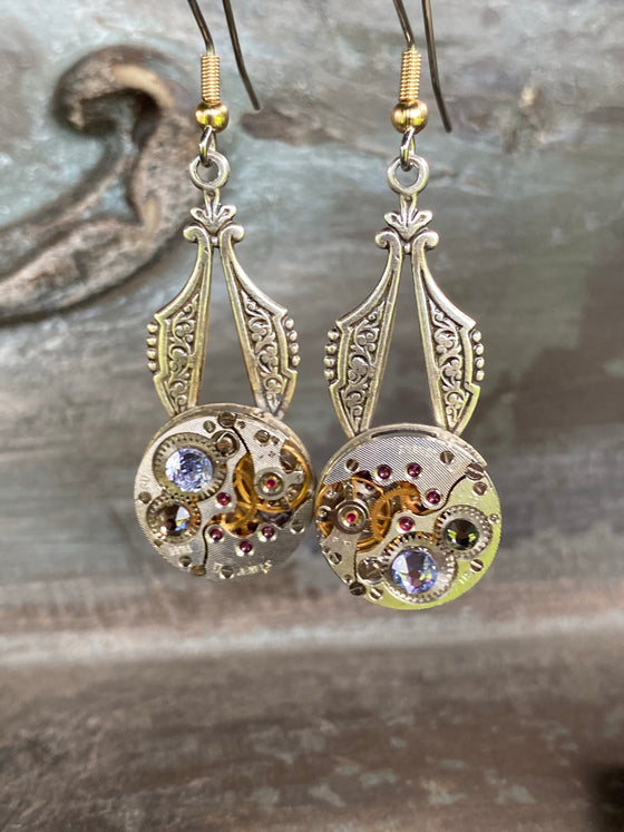 Hilda, Viking Watch Earrings