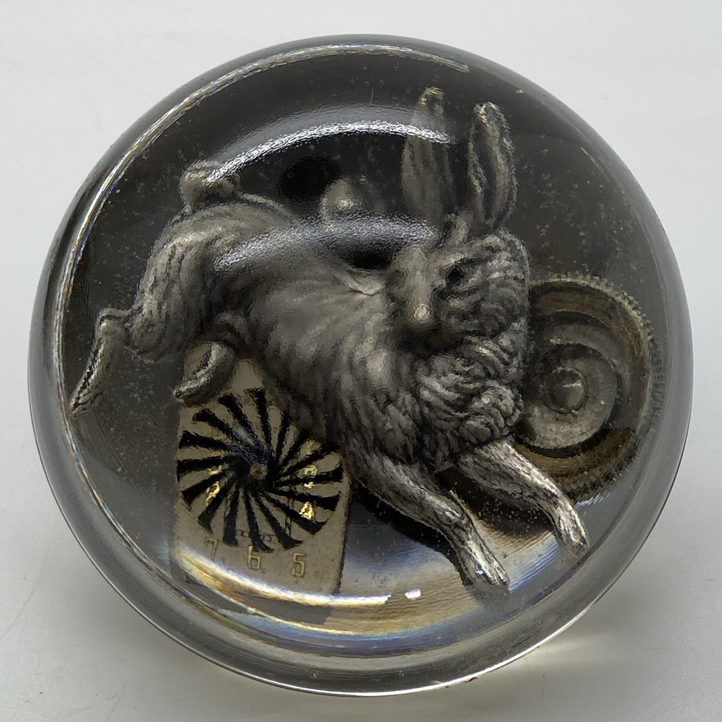 White Rabbit Paperweight - The Victorian Magpie