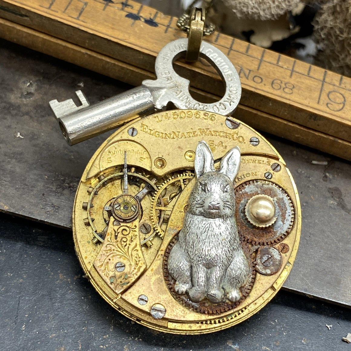 White Rabbit Key Necklace