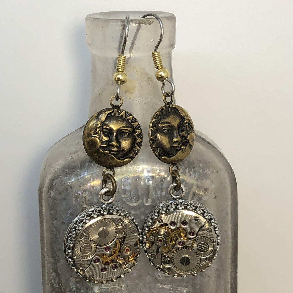 Isabel, Sun and Moon Earrings - The Victorian Magpie