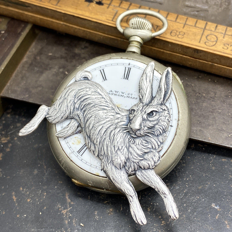 I'm Late, White Rabbit Pendant - The Victorian Magpie