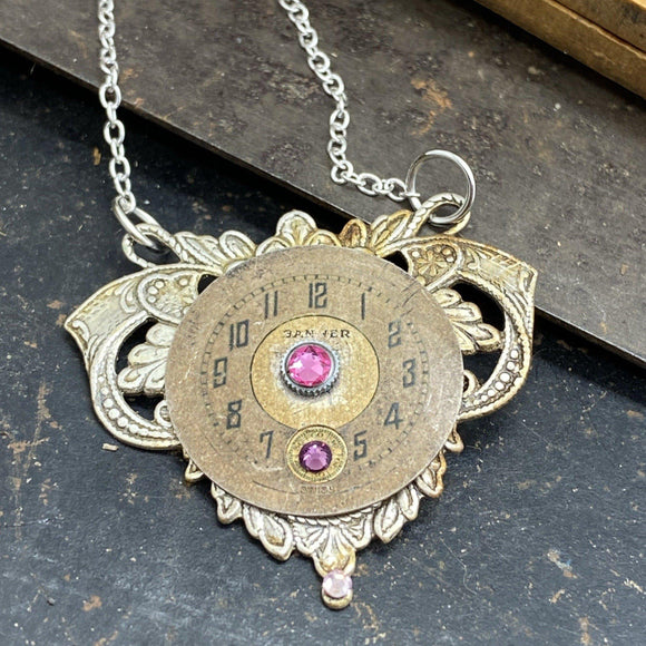 Daisy,  Elegant Watch Movement Necklace - The Victorian Magpie