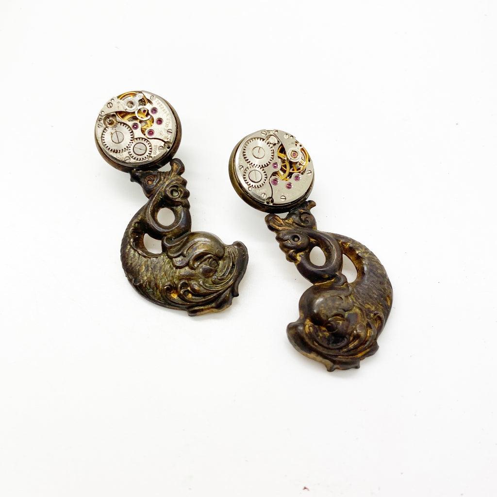 Wanda, Koi Fish Earrings - The Victorian Magpie