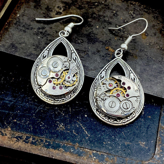 Helen, Small Dangle Earrings - The Victorian Magpie