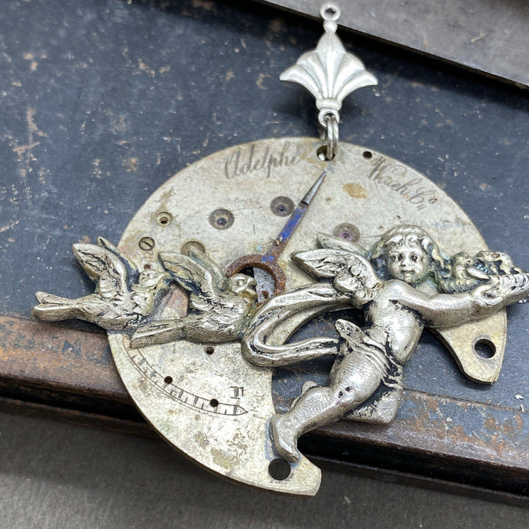 Parisa, Cherub Necklace - The Victorian Magpie