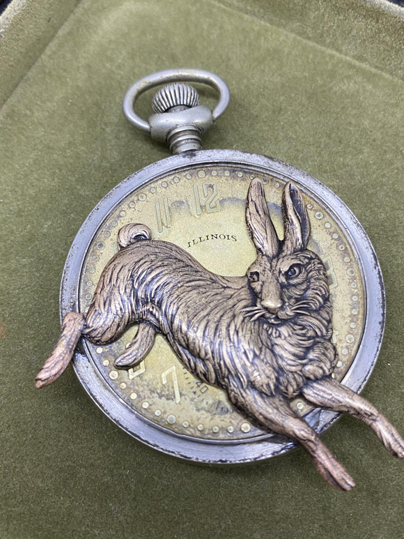I'm late - pocket watch necklace