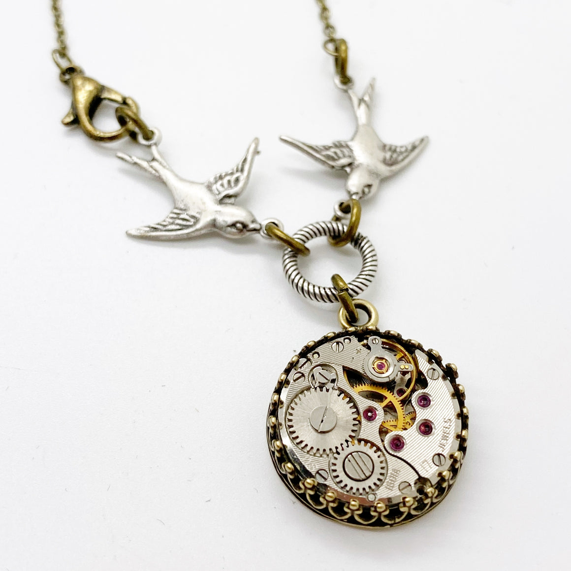 Steampunk Sparrow Necklace - The Victorian Magpie