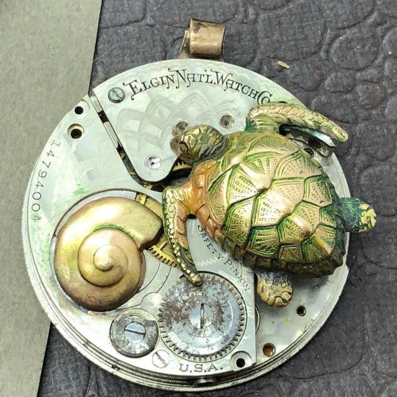 Bradford, Sea Turtle Watch Necklace - The Victorian Magpie