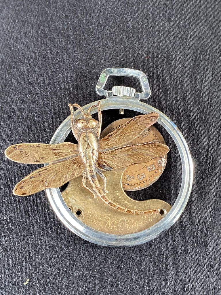 Dragonfly Pocket Watch Necklace - The Victorian Magpie
