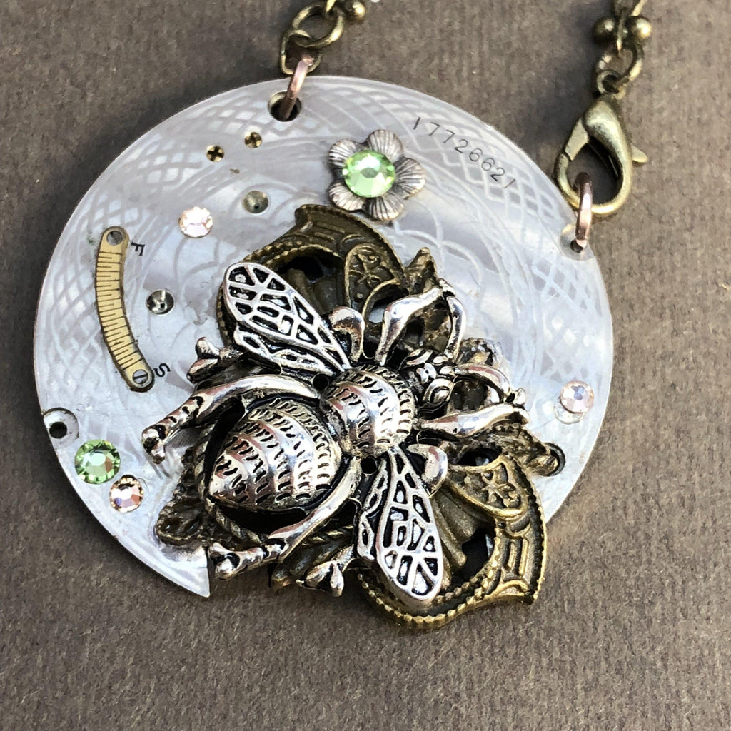 Maxine, Victorian Bee Necklace - The Victorian Magpie
