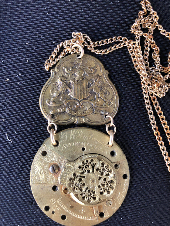 The Watchmaker Series Fusee Steampunk Necklace #1