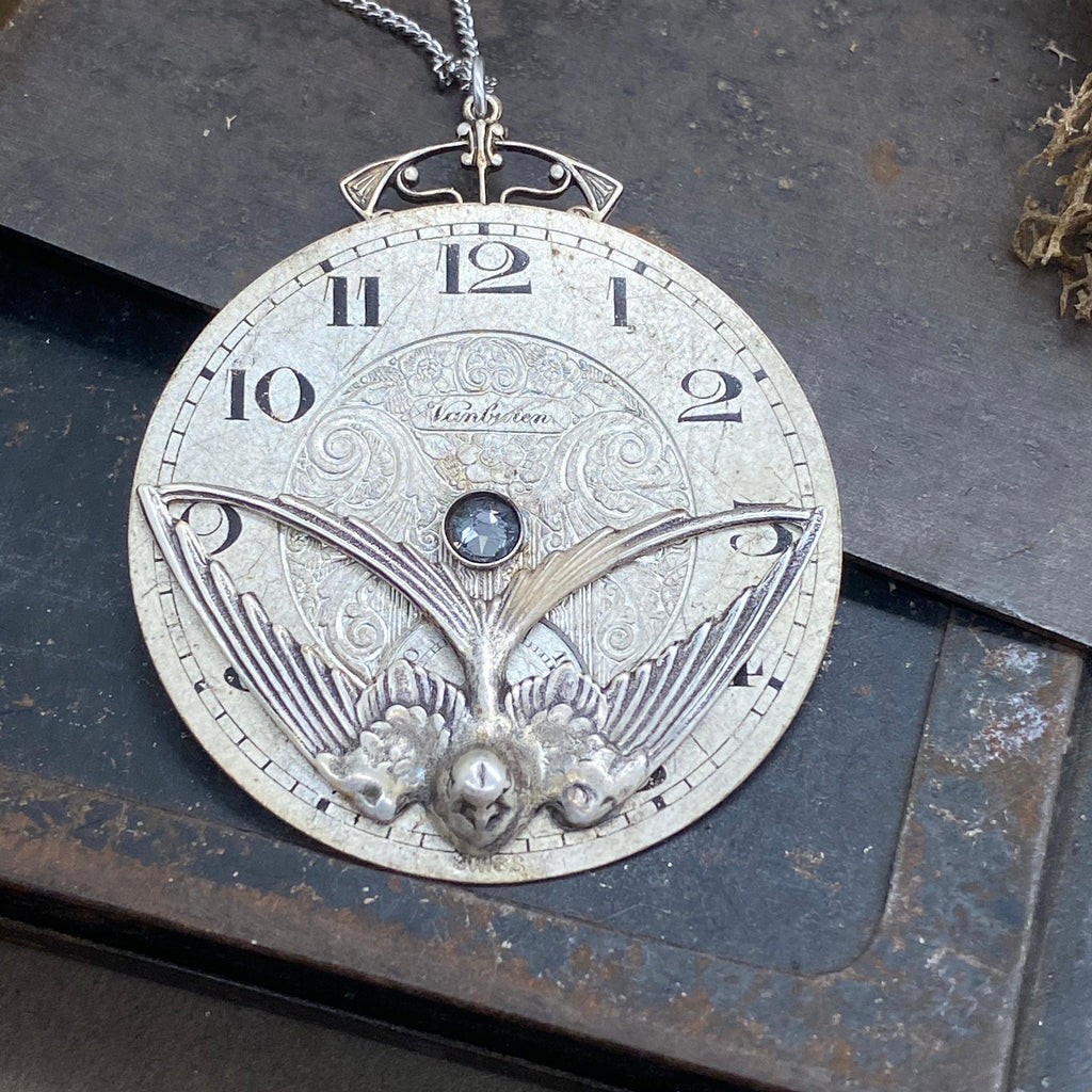 Lenore, Pocket Watch Necklace - The Victorian Magpie