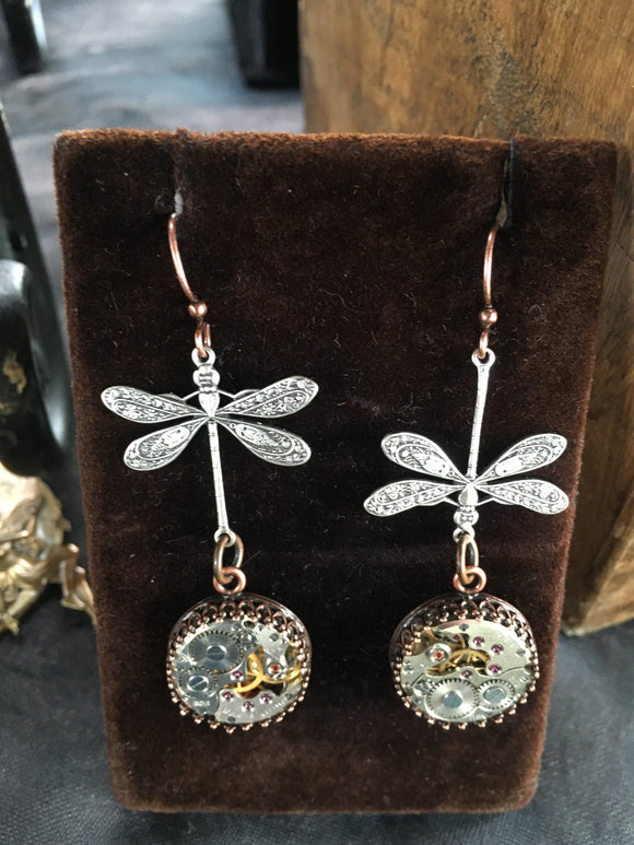 Nadine, Large Dragonfly Earrings