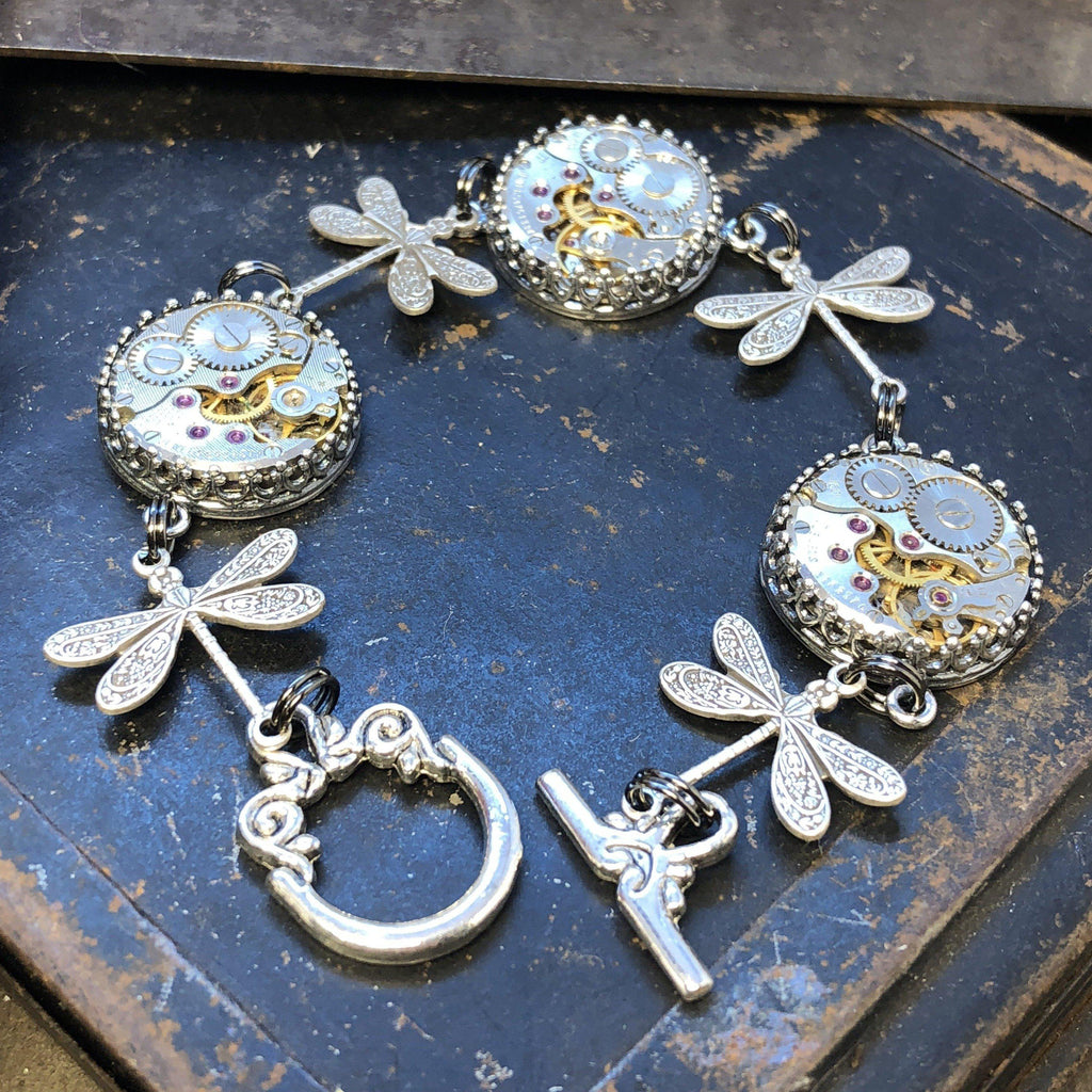 Natalie, Dragonfly Bracelet - The Victorian Magpie
