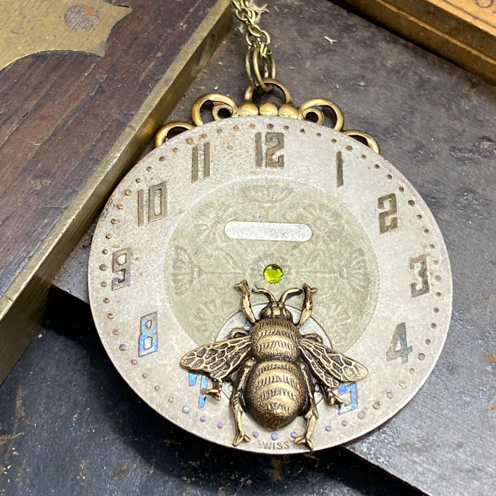 Dandelion, Bee Necklace - The Victorian Magpie