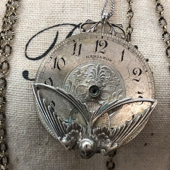 Lenore, Hamilton Pocket Watch Necklace