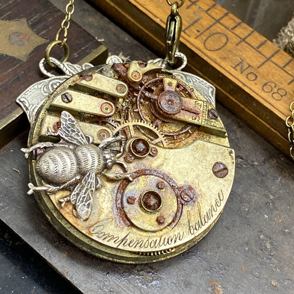 Springtime, Bee Steampunk Necklace - The Victorian Magpie