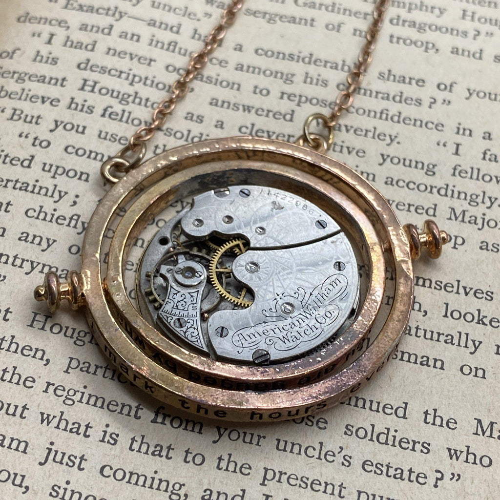 Time Turner, Watch Necklace - The Victorian Magpie